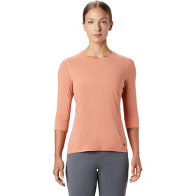 Mountain Hardwear Crater Lake 3/4 Cuello Redondo Mujer, washed sun